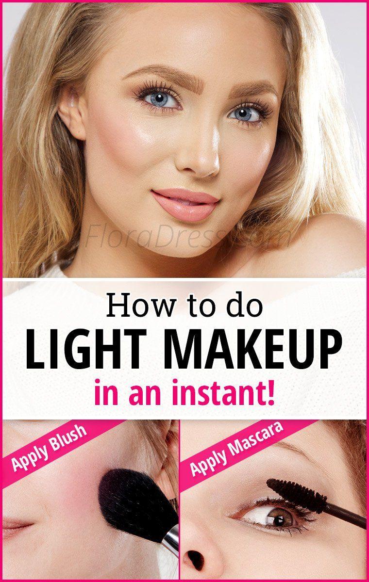 How to make light makeup 4