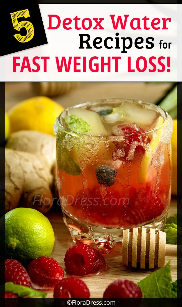 5 Detox Water Recipes for Fast Weight Loss!