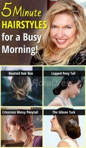 Five Minute Hairstyles for a Busy Morning