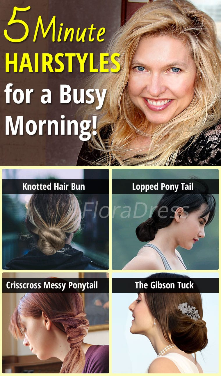 Hair Style Tips : Five Minute Hairstyles for a Busy Morning